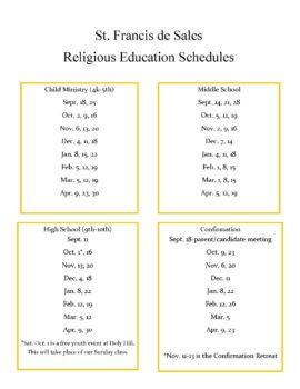 Combined Schedule